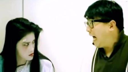 林正英徒弟楼南光在电梯遇见女色鬼, 被强行拉入电梯