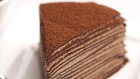 2分钟教你做不用烤箱的巧克力千层蛋糕, 看着也是一种享受