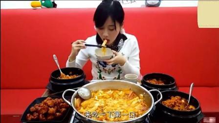 大胃王密子君发招啦! 吃部队火锅+3锅石锅拌饭+炸鸡, 部队哥都不敢和她比!