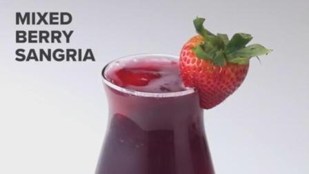 连榨汁机都不用的果味饮料: 蓝莓桑葚鸡尾酒