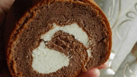 小鲁教你糕点之咖啡可可炼乳棉花卷制作, 非常精致且用心的一款小蛋糕, 味道真的很不错