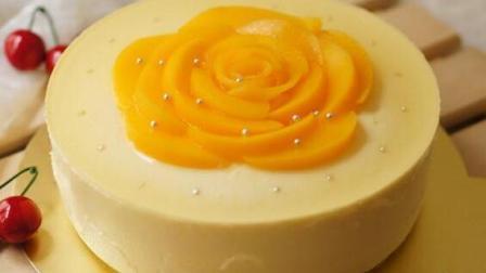 小鲁教你做糕点之黄桃慕斯蛋糕制作教学, 外观精美, 颜值爆表, 美味佳肴!