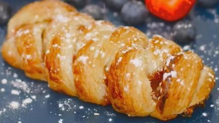 用做饭剩下的面饼做甜点: 果酱夹心面包