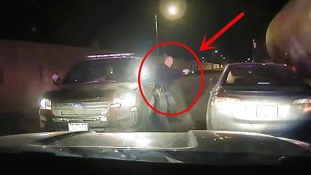 丰田司机不接受检查, 还想开车逃跑, 警察果断开枪!