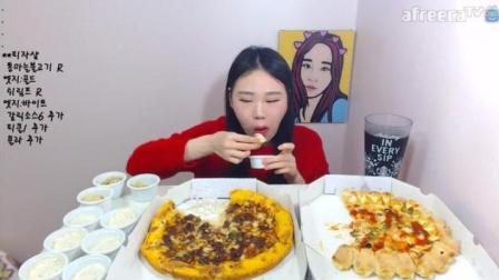大胃王弗朗西斯卡: 烤肉披萨、虾仁披萨, 两张披萨美滋滋!