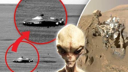 外星人确实存在, NASA好奇号在火星拍到降落的UFO飞船, 外星人在这里干什么?