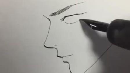 大师教你画三个不同角度的男生侧脸