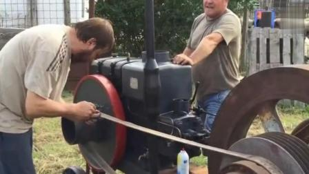 大型柴油机的启动过程, 启动后的声音听起来真舒服!