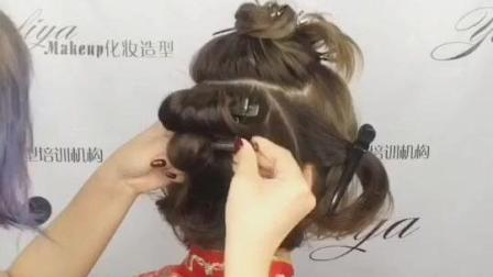 超短发盘高古装发型 ️零假发, 全头真发盘出来