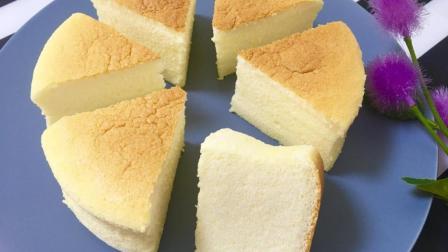 例外 自制无油无水却比豆腐还要嫩的蛋糕 只需要五种材料都是家里常用的