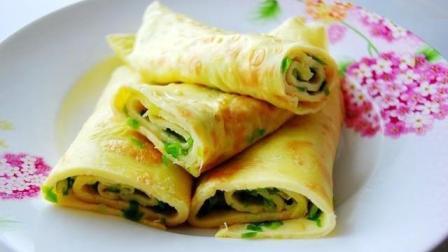 五分钟美味快手早餐——葱花鸡蛋饼的做法!