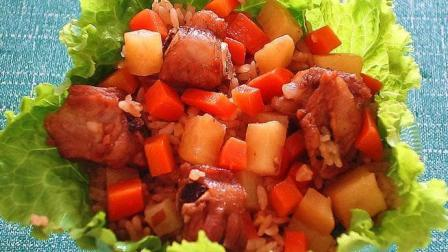 土豆排骨焖饭的家常做法, 这样做一顿能吃3大碗