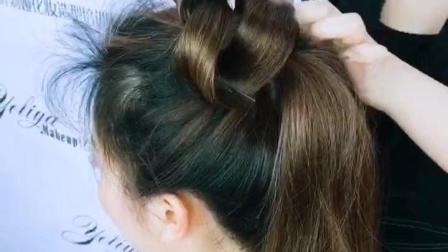 明星级妆容造型打造! 时尚抽丝改良赫本头饱满的发包