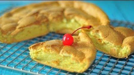 【芒果软心蛋糕】用电饭煲做蛋糕, 简单快捷, 口感软绵入口即化。