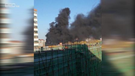 现场视频直击: 北二环青年湖公园着火 现场浓烟滚滚