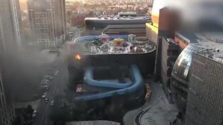 小米总部五彩城着火了。。。希望没人受伤吧
