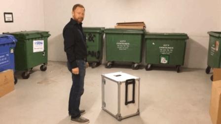 方便移动运输的小型全息柜使用演示