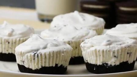 自制小甜点: 用奥利奥来做个黑白配小蛋糕吧