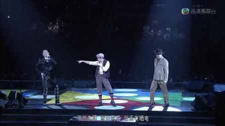 王祖蓝, 阮兆祥, 李思捷模仿, 演唱《虾子面》, 搞笑