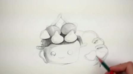 素描图片萌系巧克力的素描基础教学4素描少女