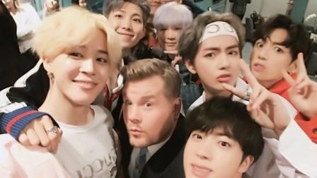 BTS完成《Late Show》录制 获得盛赞 171115