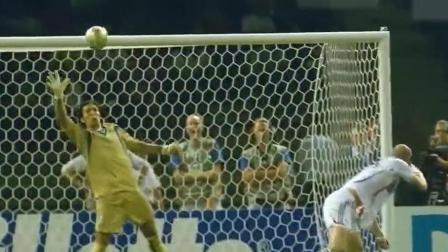 06年世界杯意大利夺冠, 齐达内勺子点球神作, 布冯神扑法国必进头球