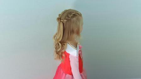 懒人扎出简单漂亮头发 儿童公主发型简单漂亮