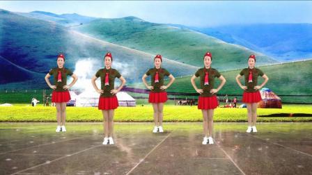 水兵舞: 《草原情缘》好听又好看! 编舞: 燕子