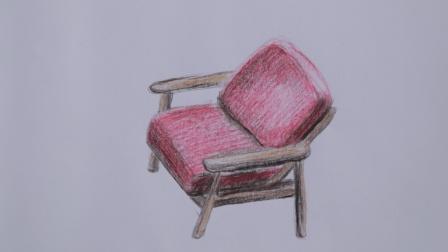 12彩铅画静物描写 一把椅子, 彩铅画零基础课堂带你打造彩铅达人