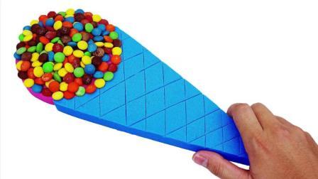 太空沙DIY彩虹糖果冰淇淋, 学习颜色英文