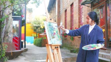 个性美女做木版画10年, 作品被大英博物馆收藏, 却不喜欢被称版画家