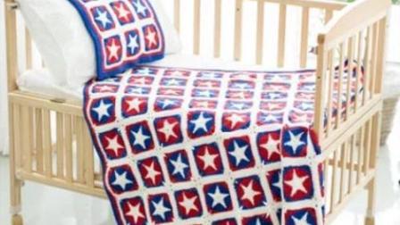 【金贝贝手工坊144辑】M92美国队长五星毯子毛线钩针编织儿童毯子空调毯宝宝盖毯好看又简单