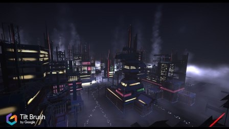 """VIRTUAL CITIES"" 360 by Paul Nicholls made with Tilt Brush"