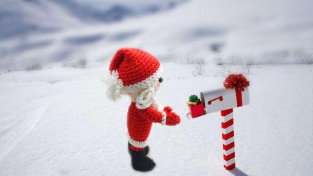 【小脚丫】圣诞老人2手工钩针毛线编织零基础视频DIY圣诞节礼物毛线玩具玩偶钩织方法视频教程