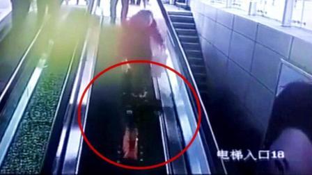 3岁女童踩滑板下扶梯被夹断指