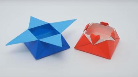折一个花边收纳盒子, 手工创意DIY折纸大全图解, 简单又漂亮的折纸艺术