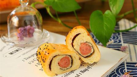 有肉的面包才是最香的, 教你自己在家做超好吃火腿海苔肉松面包!