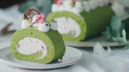 樱花抹茶蛋糕卷, 看完不想吃?