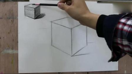 素描教程视频素描几何体图片_建筑速写图片学习素描的步骤