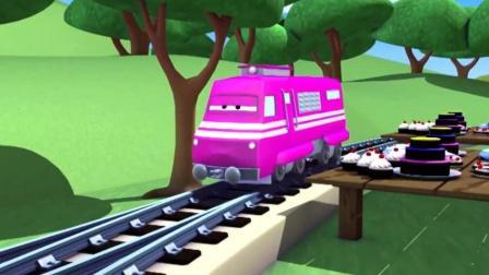 托马斯小火车玩具动画视频之托马斯拉颜色汽车动画视频31