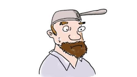 植物大战僵尸手游里疯狂的戴夫卡通头像画法 儿童简笔画教程