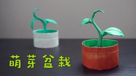 【折纸教程 - 哈喽玛琳达】萌萌哒的萌芽盆栽~(Riccardo Foschi)