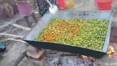 看看印度人怎么吃橄榄, 煮了一大锅, 能看下去你就是条真汉子