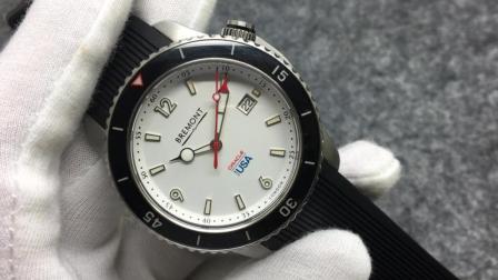 Bremont宝名美洲杯限量版, 表径43mm, 锁把设计超强潜水表 ETA2824  SuperLumiNova夜光