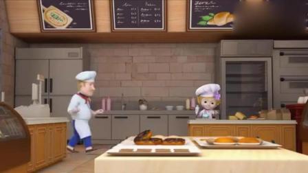 超级飞侠: 乐迪送到包裹还能吃蛋糕, 而且是6层大蛋糕哦