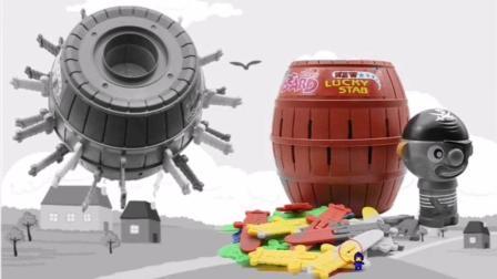 益智涂色屋 海盗桶彩色玩具 儿童识颜色