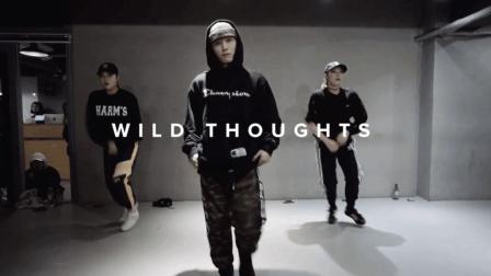 """韩国1M舞室   Junsun Yoo 编舞 超帅气舞蹈 音乐""""Wild Thoughts - DJ Khaled"""""""