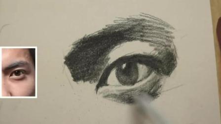 油画零基础教学视频人物肖像素描教学视频_如何自学素描色彩教程视频