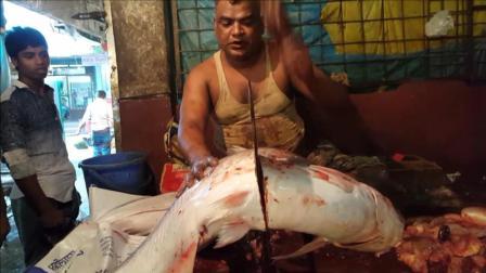 50斤的大鱼, 三哥竟然这样杀, 全程我汗毛都是站起来的