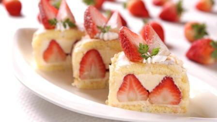 草莓鲜奶油小蛋糕, 甜蜜美满超营养!